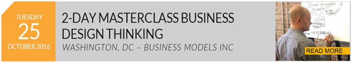 October 25-26, 2016 - Masterclass in Business Design Thinking - Washington, D.C.