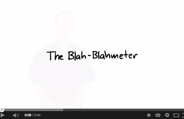 Our Toolbox: The Blah-Blahmeter