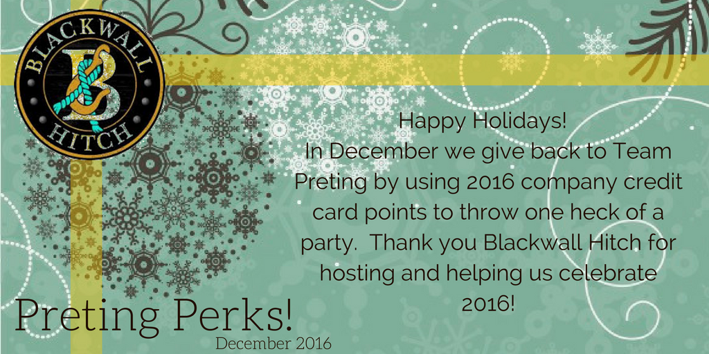 #PretingPerks! December 2016