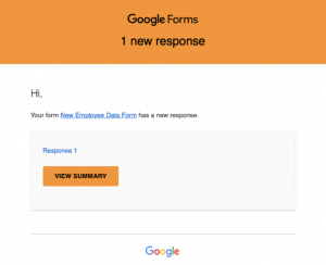How Preting Uses Google Forms: Onboarding