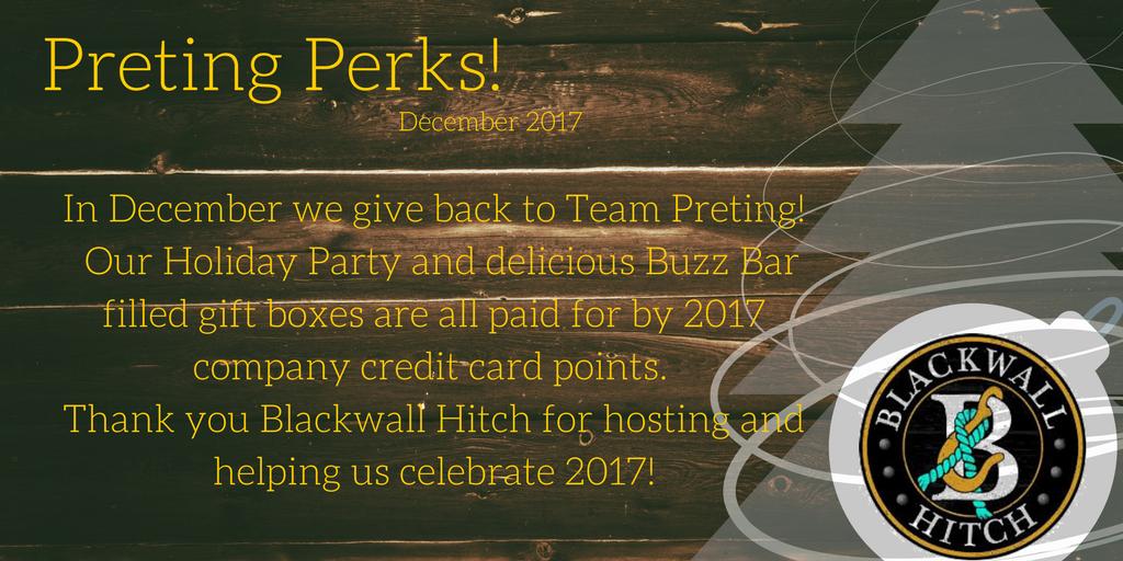 #PretingPerks! December 2017